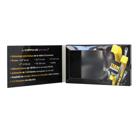 Imprimé video® carte de visite 2,4 pouces
