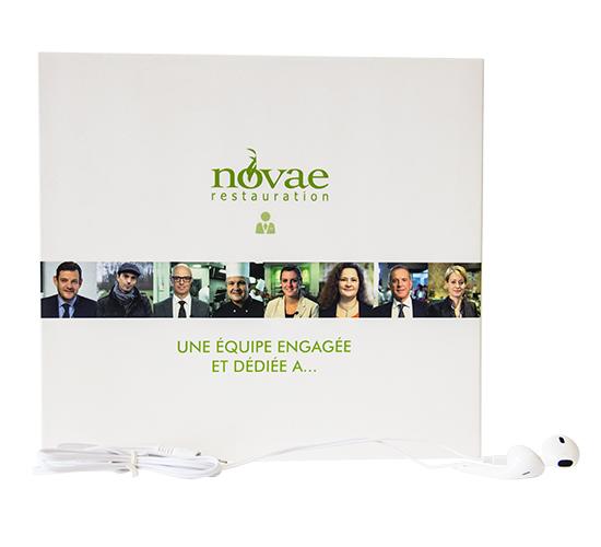 Imprimé Video® Novae Restauration • Luxe présentation d'activité